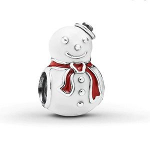 Pandora Snowman charm -enamel